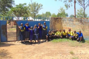 The Water Project: Jimarani Primary School -  Pupils Outside Gate