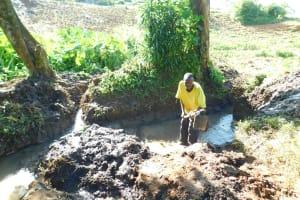 The Water Project: Imbinga Community, Imbinga Spring -  Excavation Begins