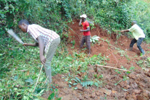 The Water Project: Jivovoli Community, Magumba Spring -  Site Clearance