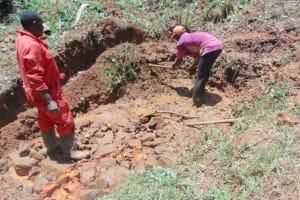 The Water Project: Kisasi Community, Edward Sabwa Spring -  Spring Excavation