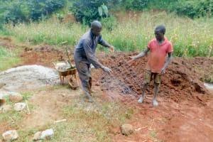 The Water Project: Shikhombero Community, Atondola Spring -  Preparing Materials