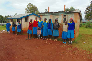 The Water Project: Kitagwa Primary School -  Girls At Their Latrines