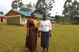 The Water Project: Wavoka Primary School -  Teacher Mrs Margret Khasoa Margret Right With A Colleague
