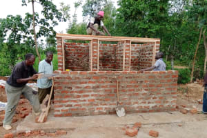 The Water Project: Mulwanda Mixed Primary School -  Framing The Latrines