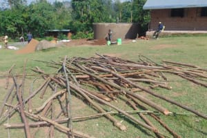 The Water Project: Kipchorwa Primary School -  Poles Ready For Dome Support