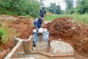 The Water Project: Shikhombero Community, Atondola Spring -  Stair Construction
