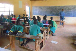 The Water Project: St. Peters Bwanga Primary School -  Mr Yasisi Heading A Class