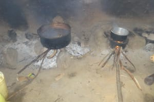 The Water Project: Isikhi Primary School -  Cookstove With Food Cooking