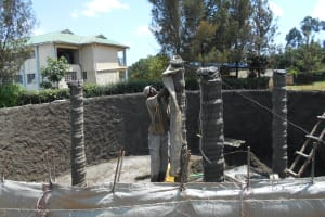 The Water Project: Ebukhuliti Primary School -  Uncovering Central Pillar