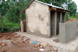 The Water Project: Mulwanda Mixed Primary School -  Latrines Receive First Cement
