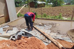 The Water Project: Ebukhayi Primary School -  Latrine Foundation Work