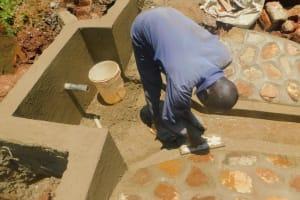 The Water Project: Shikhombero Community, Atondola Spring -  Cement Work