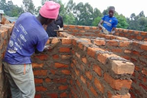 The Water Project: Kosiage Primary School -  Latrine Brickwork