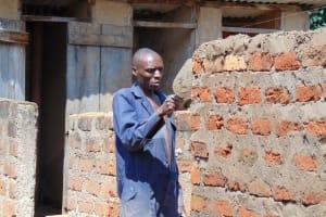 The Water Project: Banja Secondary School -  Latrine Brick Work