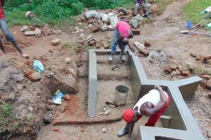 The Water Project: Kimarani Community, Kipsiro Spring -  Plaster Works