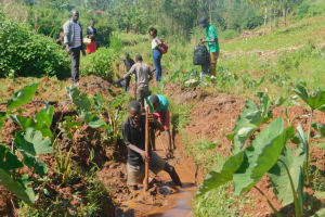 The Water Project: Busichula Community, Marko Spring -  Clearing The Drainage Channels Around The Spring