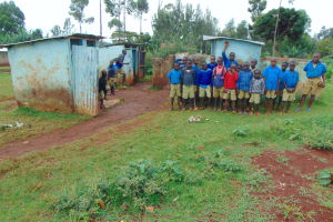 The Water Project: Kitagwa Primary School -  Boys At Their Latrines