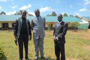 The Water Project: Friends School Manguliro Secondary -  Project Manager Jonathan Mutai With Mr Wekesa And School Bursar Mr Nyongesa
