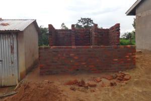 The Water Project: Mwichina Primary School -  Latrine Stalls Take Shape