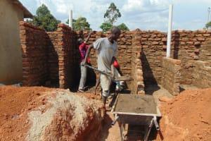 The Water Project: Ebukhayi Primary School -  Latrine Construction