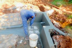The Water Project: Shikhombero Community, Atondola Spring -  Fitting The Tiles
