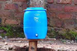 The Water Project: Kitagwa Secondary School -  Handwashing Facility