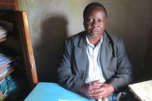 The Water Project: Mwikhupo Primary School -  Teacher Mr Hesborn Andati