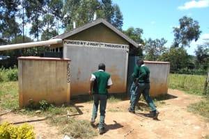 The Water Project: Friends School Manguliro Secondary -  Boys Running To Their Latrines