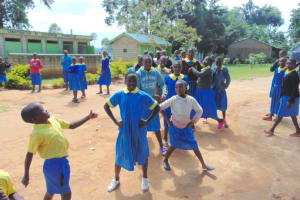 The Water Project: Shikomoli Primary School -  Pupiils On The Playground