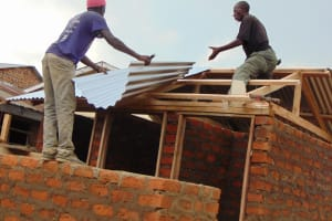 The Water Project: Kosiage Primary School -  Roofing The Latrines