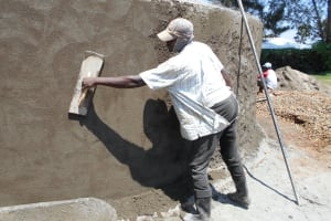 The Water Project: Ebukhuliti Primary School -  Exterior Cement Work