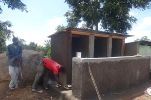 The Water Project: Mwichina Primary School -  Latrine Cement Work