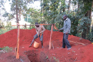 The Water Project: St. Joseph's Lusumu Primary School -  Digging Latrine Pits By Hand