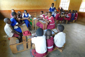 The Water Project: Mulwanda Mixed Primary School -  A Student Shares Her Groups Work