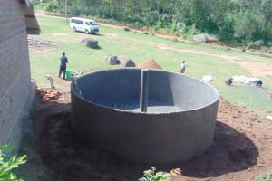 The Water Project: Kipchorwa Primary School -  Birds Eye View Of Tank