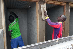 The Water Project: Ebukhayi Primary School -  Latrine Cementing