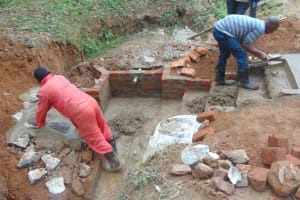 The Water Project: Shivembe Community, Murumbi Spring -  Stair And Rub Wall Work