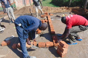 The Water Project: Mukama Primary School -  Latrine Foudnation Outline