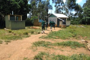 The Water Project: Friends School Manguliro Secondary -  Girls Running To Their Latrines