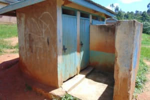 The Water Project: Gimengwa Primary School -  Girls Toilets