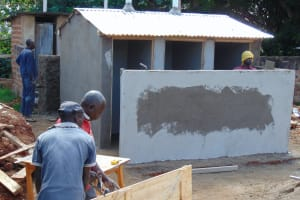 The Water Project: Banja Secondary School -  Latrines Under Construction