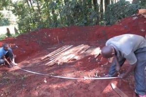 The Water Project: St. Joseph's Lusumu Primary School -  Measuring Latrine Foundation