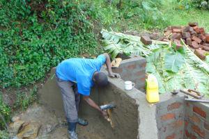 The Water Project: Buyangu Community, Mukhola Spring -  Inside Plaster