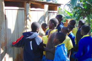 The Water Project: Gimomoi Primary School -  Boys At Their Latrines