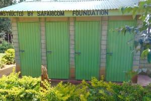 The Water Project: Shikomoli Primary School -  Boys Latrine Block