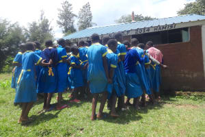 The Water Project: Isikhi Primary School -  The Ladies At The Latrines