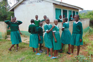 The Water Project: Galona Primary School -  Girls At Their Latrines
