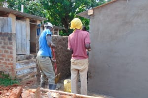 The Water Project: Banja Secondary School -  Latrine Construction
