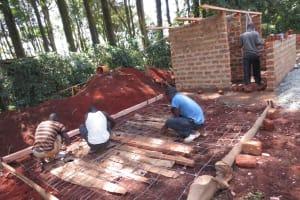 The Water Project: St. Joseph's Lusumu Primary School -  Latrine Foundation Work