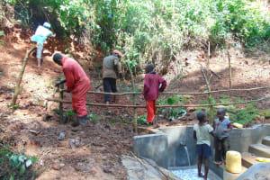 The Water Project: Kisasi Community, Edward Sabwa Spring -  Fencing